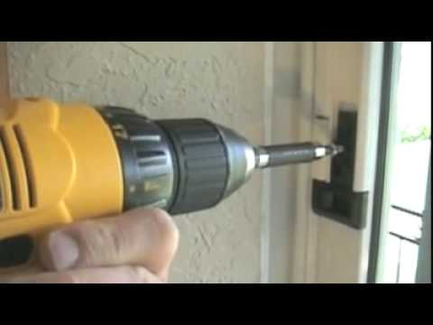 Sliding Door Lock Orlando FL Patio Doors Locks Orlando   YouTube