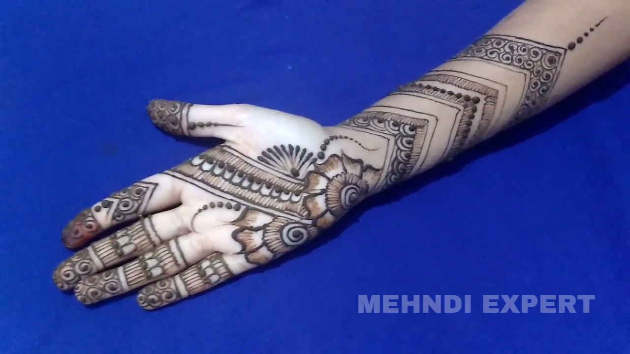 Beautiful Easy Bangle Style Mehndi Designs For Full Hands | Step ...