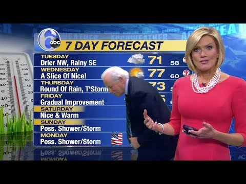 Action News Philadelphia WPVITV  6ABC  Cecily Tynan loses earring, Jim Gardner hunts it down 😂