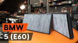 Salona filtrs maiņa BMW 5 (E60) - video pamācības