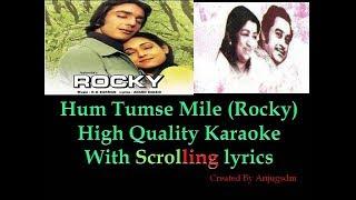 Hum tumse mile    ROCKY 1981    karaoke with scrolling lyrics (High Quality)