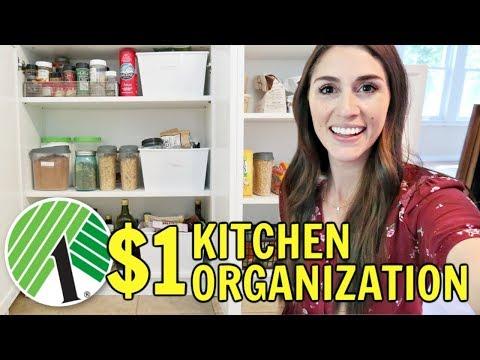 $1 Kitchen Organization from the Dollar Tree