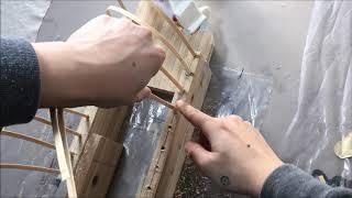 2. 흉부 구조 설계. 대나무 살과 삼나무 목판을 활용…