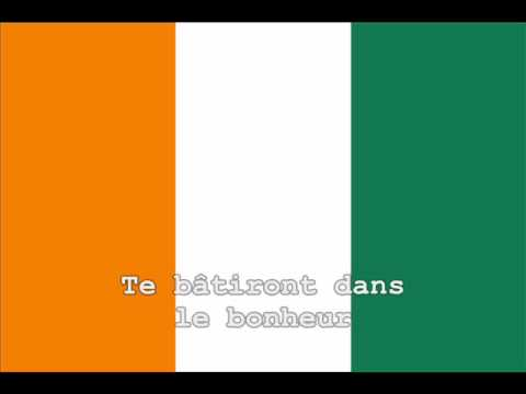 National Anthem of Côte d'Ivoire Instrumental with lyrics