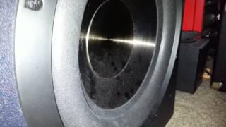 BIC F12 subwoofer bass test