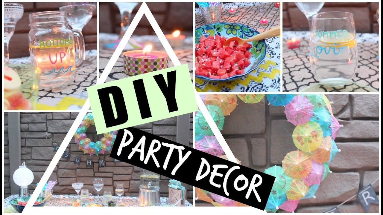 diy pinterest inspired summer party decor youtube