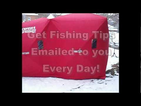 Easy Ice Hut Setup - One Mintue Eskimo Ice Hut Setup