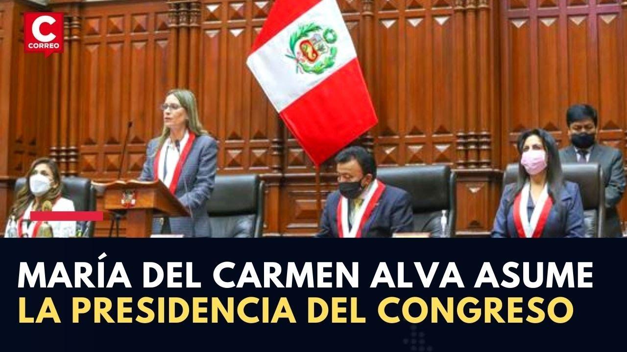 María del Carmen Alva asume la presidencia del Congreso