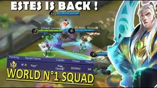 How To MVP With Estes - Top 1 World Squad Ranked - Mobile Legends