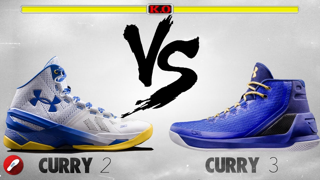 Under Armour Curry 2 vs Curry 3! - YouTube 6530abe6d
