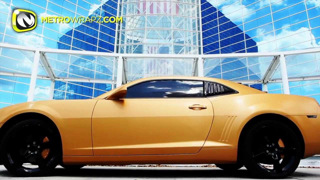 3m Brushed Gold Chevy Camaro Youtube