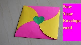 DIY New year greeting card How to make greeting card for New year Envelope card
