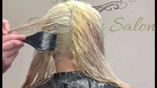 How to bleach & tone . Blonde hair tutorial .