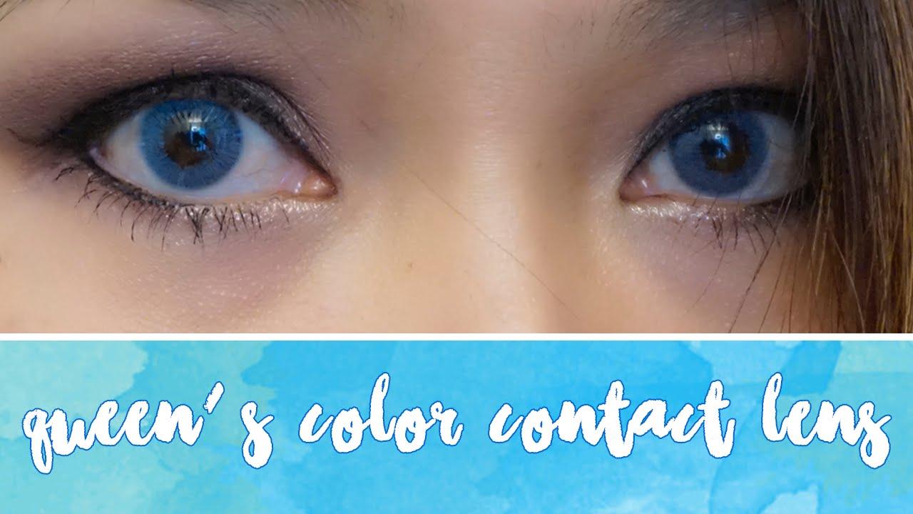 c3b73e938405cf Lentilles de contact en couleur  Queen s Solitaire Light blue  Revue -  YouTube
