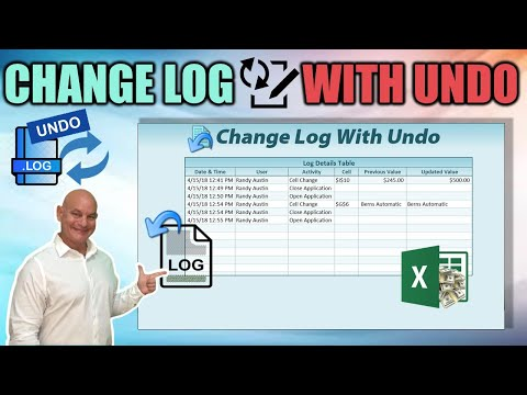 How To Create A Change Log WITH UNDO In Excel