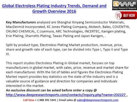 Global Electroless Plating Industry Growth Analysis and 2021 Market Outlook