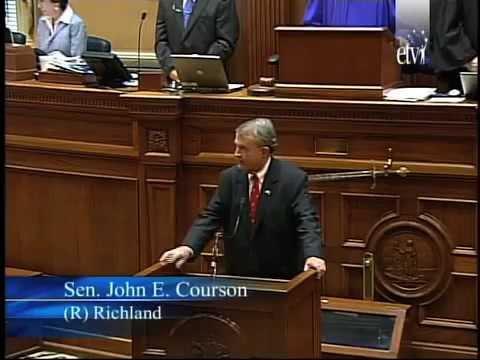 Sen. John Courson Is the New President Pro Tempore