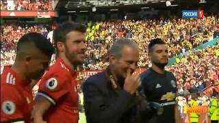 Michael Carrick's last moment with Manchester United