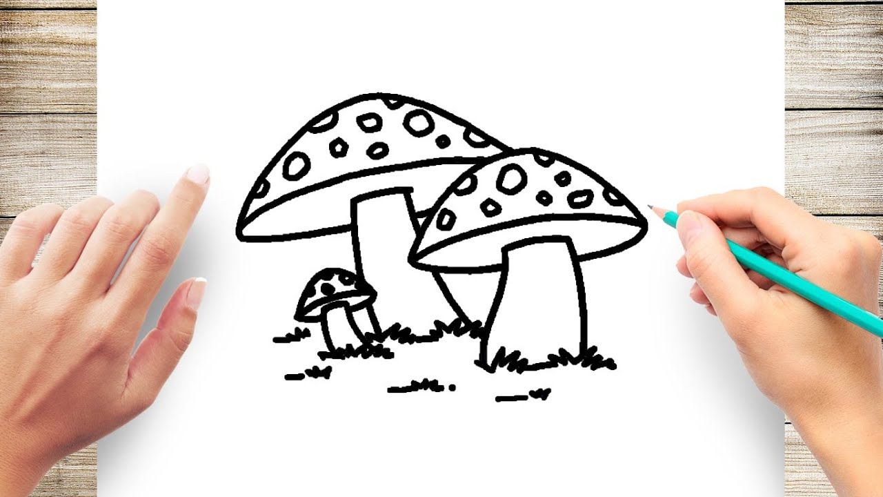 How To Draw Poisonous Mushroom Youtube