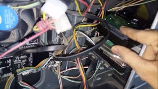 how to install a new internal hard disk drive to motherboard in pc step by step