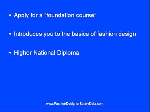 Steps To Become A Fashion Designer Youtube