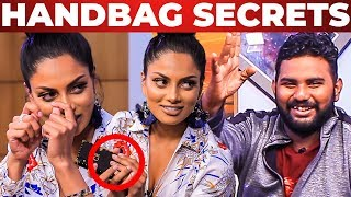EYELASH SECRETS - IAMK Actress Chandrika Ravi HANDBAG Secrets Revealed | What's Inside the HANDBAG