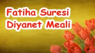 Fatiha Suresi Diyanet Meali 2017 Video