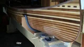 """Prospector Wood Strip Canoe Build From The Book """"canoe Craft"""" By Ted Moores"""
