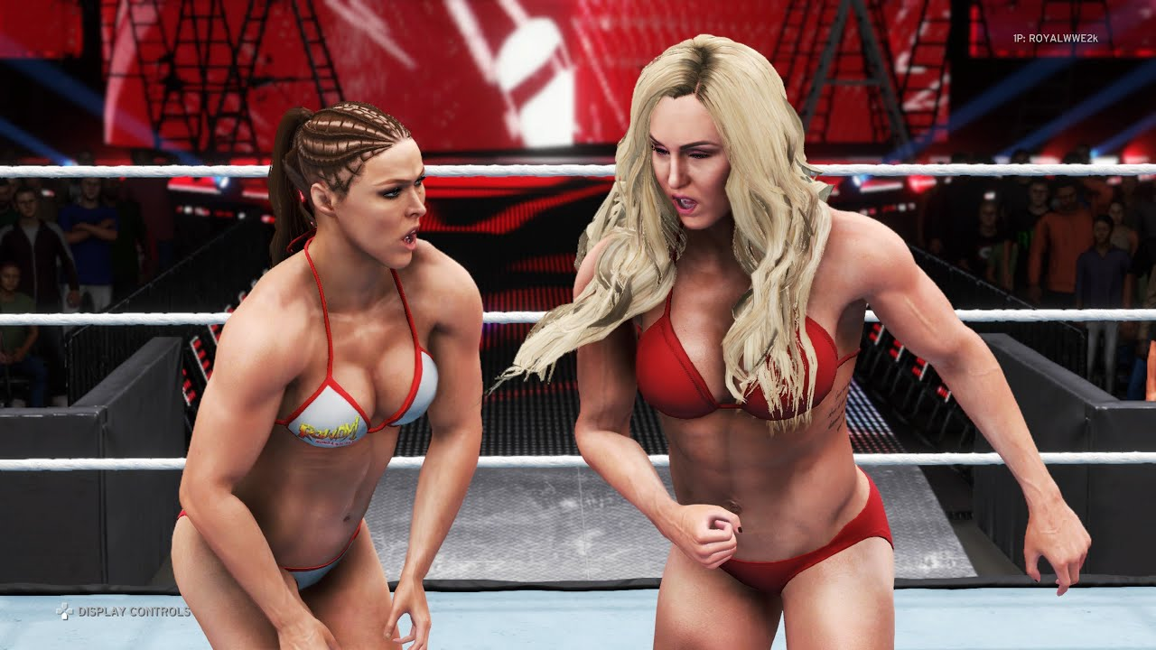 WWE 2K20 - Ronda Rousey vs. Charlotte Flair - Bikini Girl Fights 💜