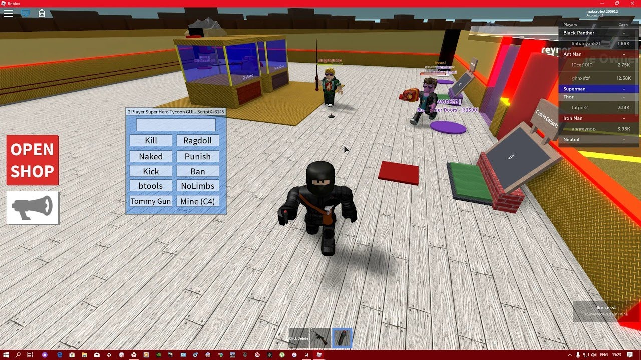 Roblox House Tycoon Script Pastebin Super Hero Tycoon Kick Hack Script Pastebin 2020 Youtube