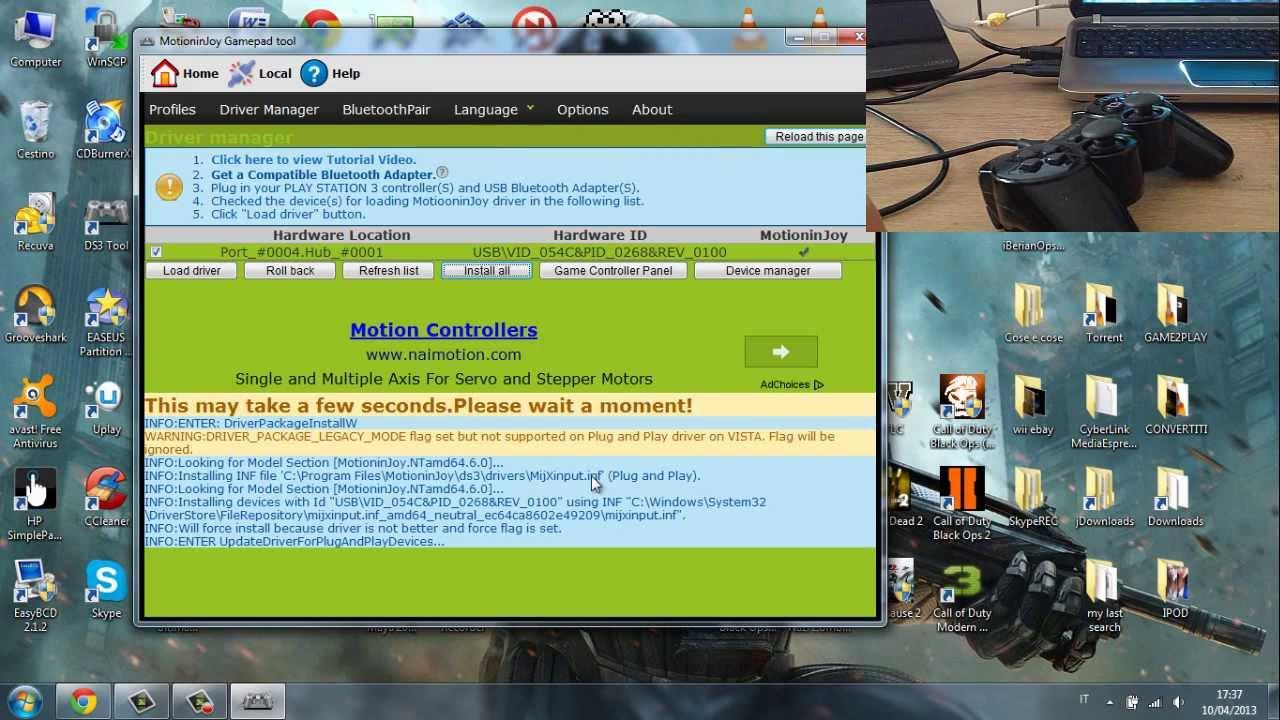 Motioninjoy ds3 tool offline download