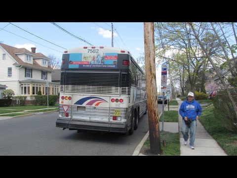 NJT MCI D4000 #7582 on the 166 to Tenafly (Inside) in HD