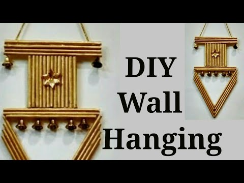 Wall hanging best out of waste youtube for Wall hanging best out of waste