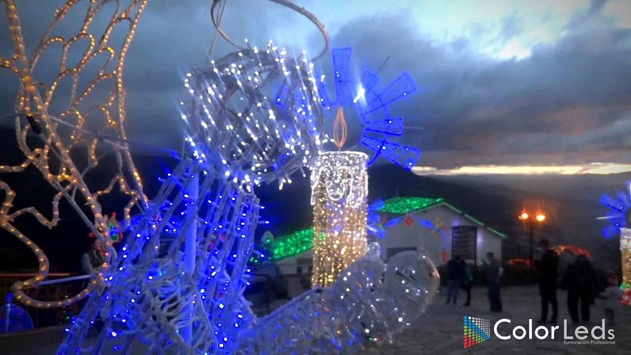 Alumbrado navideo Monserrate 2014 iluminacin navidea