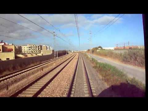 rail view time lapse entre mohammedia et rabat ,music