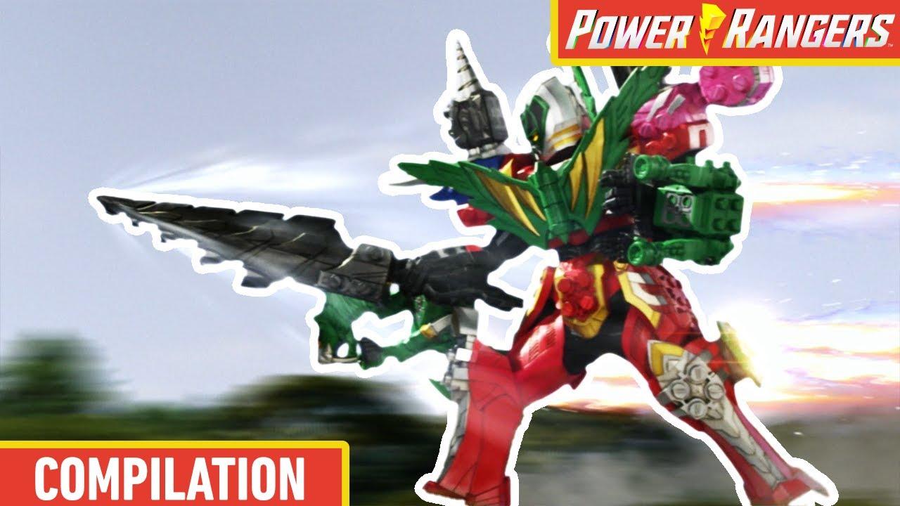 Every Megazord Battle So Far 🤖 Giant Robots 🤖 Dino Fury ⚡ Power Rangers Kids ⚡ Action for Kids