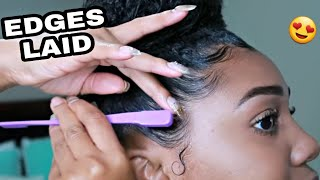How To Lay Your Edges! Best Edge Tamer ALL DAY!