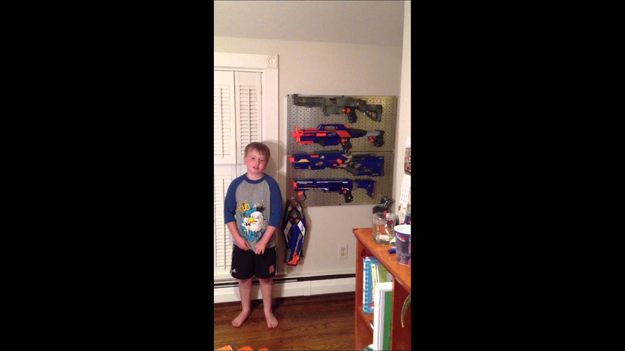 Nerf Arsenal Peg Board Install Youtube