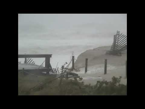 Hurricane Sandys Onslaught  Normandy Beach NJ