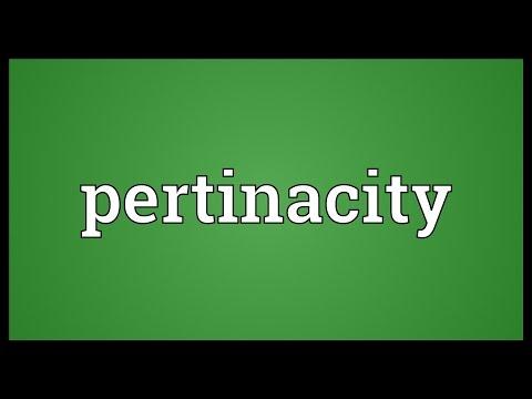 Header of pertinacity