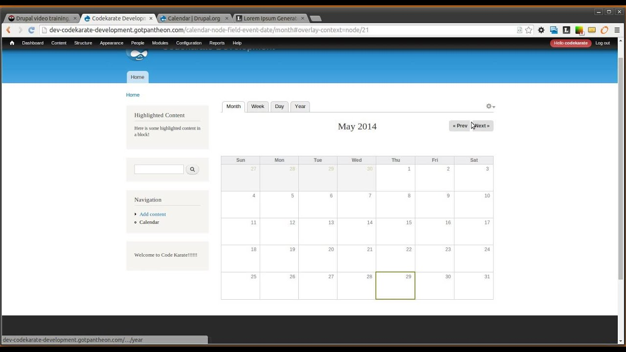 Drupal 7 Calendar Module - Daily Dose of Drupal Episode 155 - YouTube