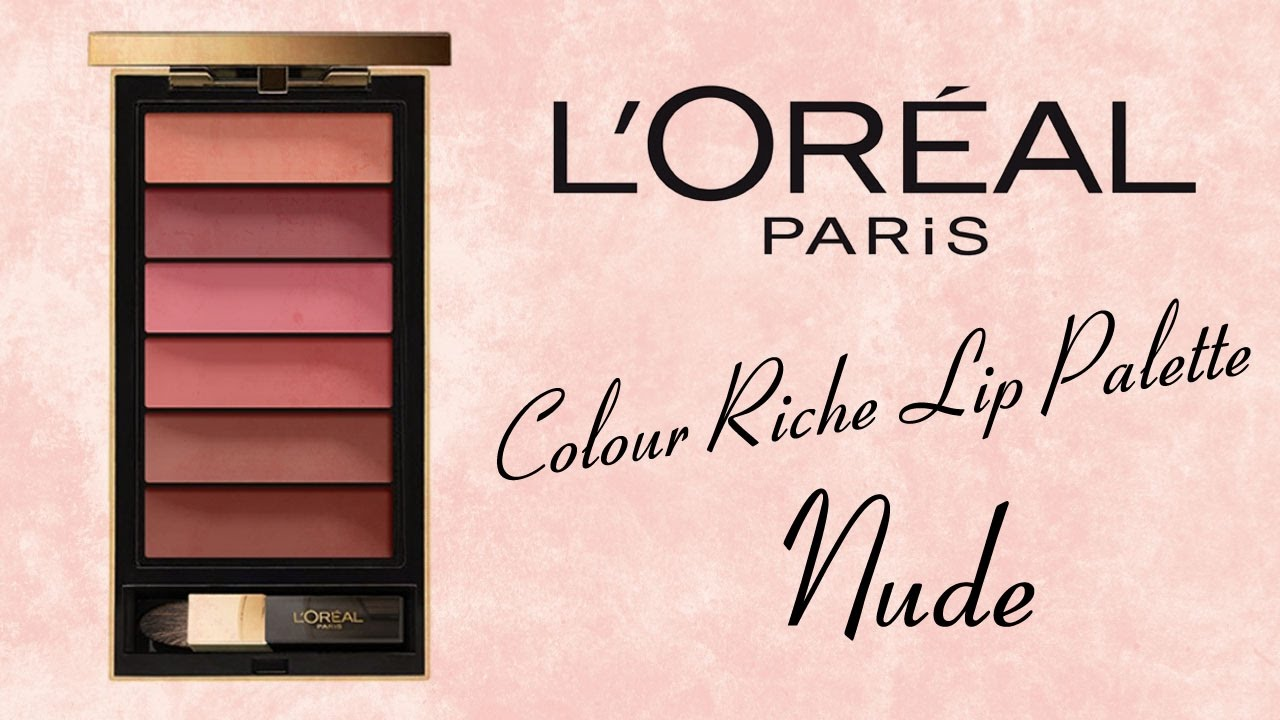Loreal - La Palette LIP Kits | Review & Lip Swatches! - YouTube