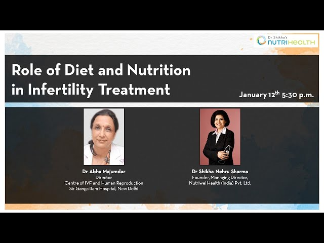 Role of Diet and Nutrition  in Infertility Treatment - Dr Abha Majumdar