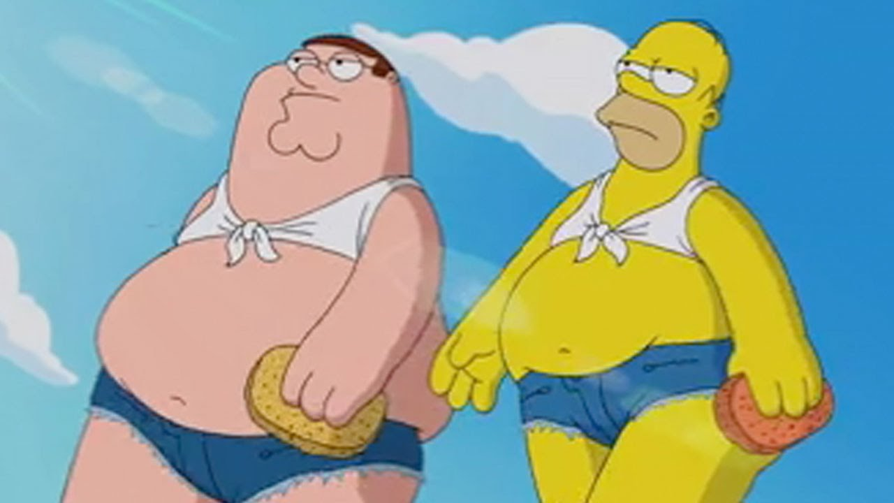 Family Guy And The Simpsons Peter And Homer S Carwash Youtube