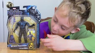 Black Panther Vibranium Suit (Movie) Action Figure Unboxing & Review