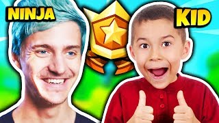 NINJA GIVES FREE BATTLE PASS TO A KID | Fortnite Daily Funny Moments Ep.206