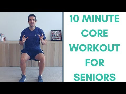 10 Minute Core Strengthening Workout For Seniors | Simple Seated Core Exercises