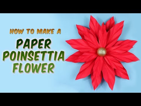 How to make a Poinsettia Paper Flower | Christmas Tutorial