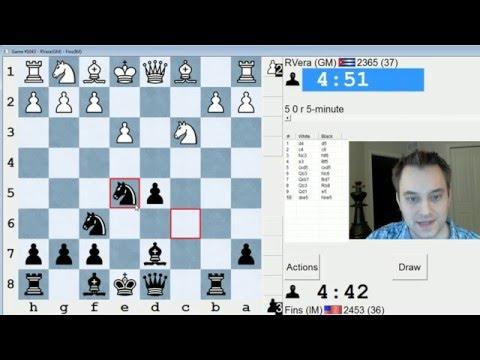 Blitz Chess #418: GM Renaldo Vera vs. IM Bartholomew (Slav Defense)