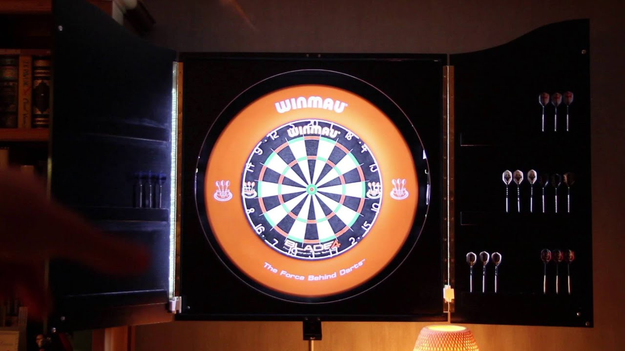 DIY Dartboard Cabinet   YouTube
